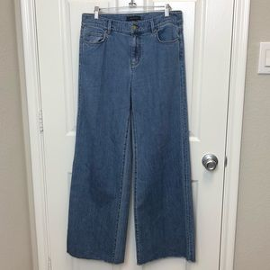 Ann Taylor The Wide Leg Mid Rise Jeans